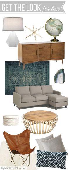New mid century modern living room furniture chairs 54 ideas Living Room Decor Furniture, Couch Furniture, Home Decor Bedroom, Interior Design Living Room, Eclectic Furniture, Vintage Furniture, Modern Furniture, Furniture Ideas, Room Interior