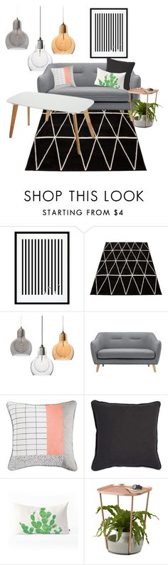 """""""004"""" by daisycw ❤ liked on Polyvore featuring interior, interiors, interior design, home, home decor, interior decorating, Eleanor Stuart, Umbra, livingroom and under500"""
