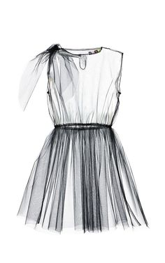 Black Tulle Dress Overlay by MSGM Now Available on Moda Operandi