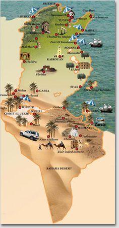 tunisie paysage - Google Search