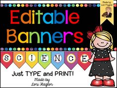 SO easy to make your own banners! Just type and print!