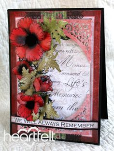 Heartfelt Creations | Red Poppy Memories