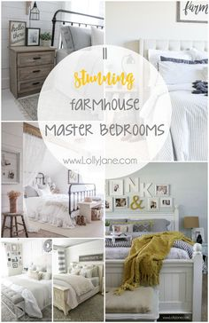 11 stunning farmhouse master bedrooms. Copy that cozy master bedroom feel with eleven home decor blogger's master bedrooms.