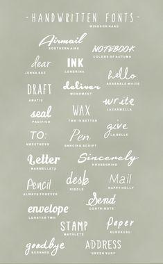 25 handwritten fonts.