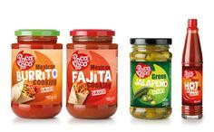 Poco Loco Packaging Snack, Juice Packaging, Food Packaging Design, Beverage Packaging, Bottle Packaging, Packaging Design Inspiration, Sauces, Exotic Food, Stuffed Hot Peppers