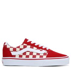 75d8d957902a Vans Women s Ward Low Top Sneakers (Tango Red White)