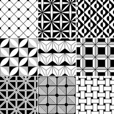 Monochrome Abstract Seamless Background Royalty Free Cliparts, Vectors, And Stock Illustration. Doodle Patterns, Zentangle Patterns, Geometric Patterns, Geometric Art, Doodle Art Drawing, Zentangle Drawings, Zentangles, Dibujos Zentangle Art, Mandala Art Lesson