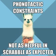 When I think this linguist llama is funny it means I've gone too far in my final project this semester.