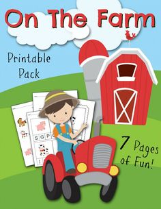 FREE printable Kids activity work sheets. On the farm. So cute, and SOOO much cheaper than buying those books at the store.