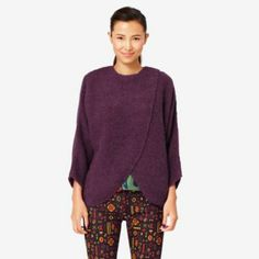Kate Spade New York® Official Site - Designer Handbags, Clothing, Jewelry & Kate Spade Saturday, Poncho Sweater, Pullover, Knitting, Purple, Sweaters, Stuff To Buy, Cozy, Shopping