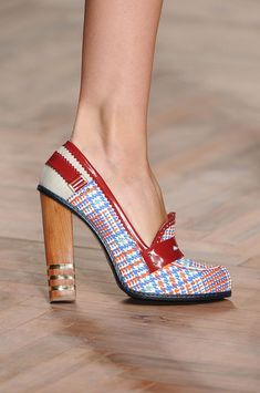 Loafers/boat shoes turned heels. Tommy Hilfiger Spring 2012  OMG, I just died a little!!!