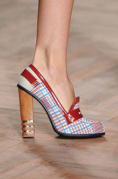 Loafers/boat shoes turned heels. Tommy Hilfiger Spring 2012