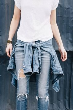ripped jeans & t-shirts