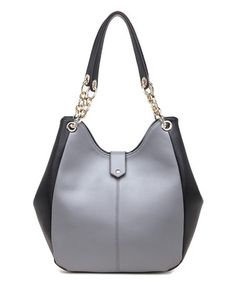 Look at this #zulilyfind! Slate Avril Leather Bucket Bag #zulilyfinds