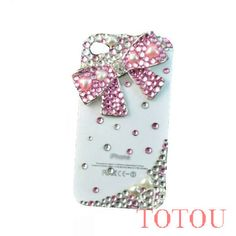 Bling iphone 5 case Crystal Bow iphone 4 4s caseiphone 3g by TOTOU, $15.99