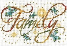 Family Cross Stitch Kit 2877