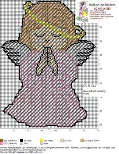 Girl Angel plastic canvas