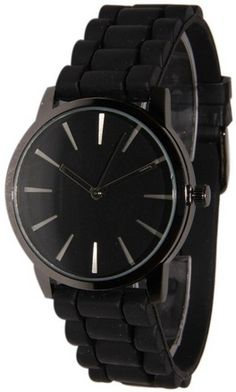 nice Black w/ Black Silicone Jelly Watch - For Sale Check more at http://shipperscentral.com/wp/product/black-w-black-silicone-jelly-watch-for-sale/