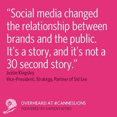 In my opinion, it's a great thought. Nevertheless, it is suggesting that advertising is dead, but actually everything is just becoming more and more integrated.