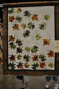 Leaf quilt.  Artistic Longarm Quilting by Sheri Zalar 309-698-0398.