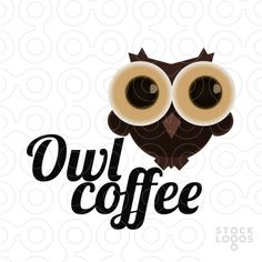 I just think the owl's adorable O - Logo Owl coffee by GoldAngle
