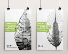 Greener Cities Poster Series by Alyssa Almeida, via Behance