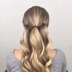 56 Updo Hairstyle Ideas & Tutorials for Wedding - Frisuren - Hochsteckfrisur Easy Hairstyles For Long Hair, Girl Hairstyles, Hairstyle Ideas, Ponytail Hairstyles Tutorial, Hairstyle Tutorials, Long Hair Easy Updo, Easy Elegant Hairstyles, Buns For Long Hair, Easy Wedding Hairstyles