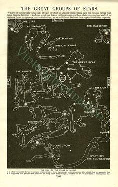 1933 Vintage Star Chart SPRING SUMMER