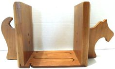 Bookends Pair Dog Scottie Scotty Scottish Terrier Animal Pet Wood Home Decor  #Unbranded #Traditional