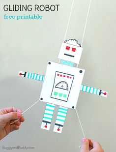 STEM Activity for Kids: Free Printable Gliding Robot