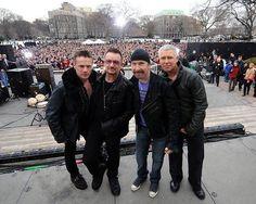 U2 I think they were in Washington DC singing for Good Morning America