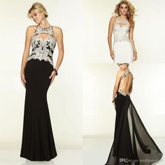 2015 Newest Hot Sale Halter Appliques Sheath Black Evening Gown Luxurious Long Chiffon Satin Party Prom Dresses Online with $92.15/Piece on Weddingpalace's Store | DHgate.com