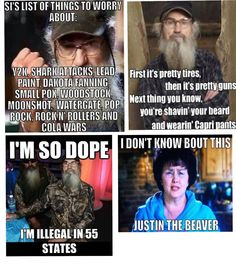 Some great Duck Dynasty Quotes! Brought to you by Si and Ms. Kay
