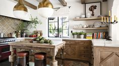 spanish colonial home with a twist | kitchen via coco+kelley