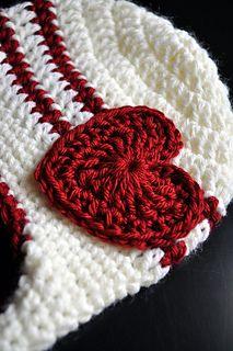 Striped Crochet Flowered Earflap Hat