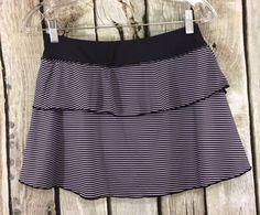 Kyodan S Skirt Black/White Layered Ruffle Swing Skort Athletic Tennis/Running #Kyodan #SkirtsSkortsDresses