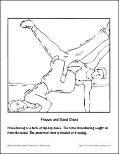 Break Dancer Coloring Page | Kindergarten, Coloring pages ...