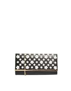 New Look Clutch Bag with Applique Florals