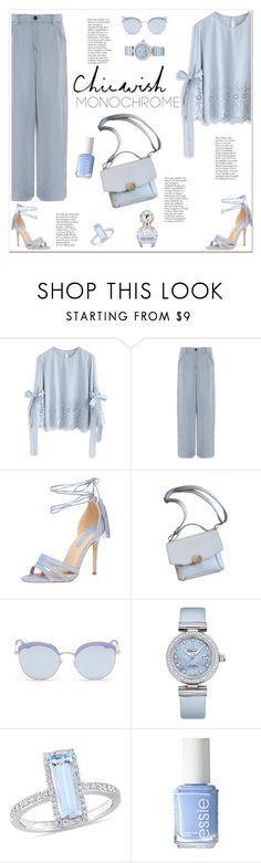 """Chicwish"" by tamara-40 ❤ liked on Polyvore featuring Chicwish, Emporio Armani, Dorothy Perkins, Stephane + Christian, OMEGA, Essie, Marc Jacobs, chicwish and blouse"