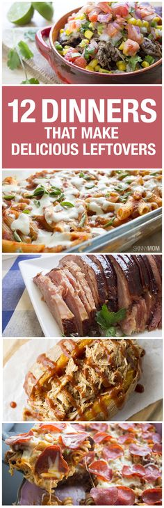 12 skinny dinners that make yummy leftovers! (Lunch Recipes For Men) Leftovers Recipes, Lunch Recipes, Dinner Recipes, Cooking Recipes, Meals Good For Leftovers, Dinner Ideas, Low Calorie Recipes, Healthy Recipes, Healthy Dinners