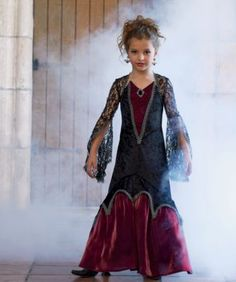 midnight vampiress girls costume - Only at Chasing Fireflies - The real fun begins when the moon is high and creatures of the night emerge from the shadows.