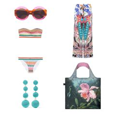 Make LOQIs Exotic Dreams part of your sunshine filled summer days into show-stopping summer nights. #LOQI #  #bag #exoticdreams #summeroutfit #orchid #OOTD #martinjohnsonheade #earrings #bikini #sunglasses #summer #exotic #flowers #jungle #Tropical #Rainforest #Flora #Fauna #Birds #Butterflies #lush #green #colourful #inspiration #fashion #style #outfit