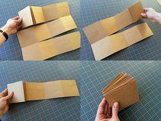 How to make a photo album. Easy DIY Fold Out Photo Album - Step 3 Kids Photo Album, Make A Photo Album, Mini Photo Albums, Mini Albums, Diy Mini Album, Mini Album Tutorial, Diy Photo, Accordion Book, Baby Clip Art
