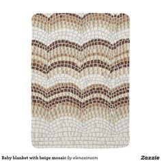 Baby blanket with beige mosaic
