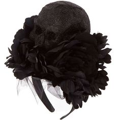 Large Black Skull Headband (48 BRL) ❤ liked on Polyvore featuring accessories, hair accessories, skull hair accessories, head wrap hair accessories, hair band headband, headband hair accessories and hair band accessories