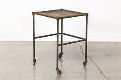 Vintage Industrial Rolling Table by VintageSupplyLA on Etsy