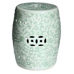 Handmade Celadon Green Porcelain Garden Stool (China)