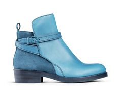 """I wouldn't say no to blue """"sort-of"""" suede shoes!  Clover Petrol (Acne, Stockholm)"""