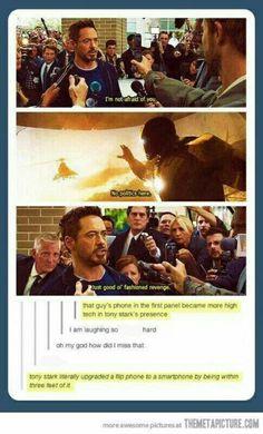 Tony Stark is magically upgrades phones