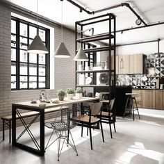 VrayWorld - Industrial apartment
